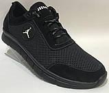 46-50 р! Jordan синие кроссовки мужские летние  с сеткой и кожей большого размера Джордан, фото 7