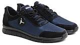 46-50 р! Jordan синие кроссовки мужские летние  с сеткой и кожей большого размера Джордан, фото 2