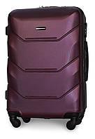 Микро пластиковый чемодан Fly 147 на 4 колесах темно-фиолетовый