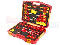 Универсальный набор диэлектрического инструмента TOLSEN VDE Premium, 25 предметов (V83825)