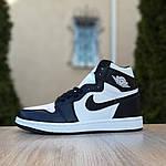 Мужские кроссовки Nike Air Jordan 1 Retro (бело-черные), фото 2