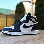 Мужские кроссовки Nike Air Jordan 1 Retro (бело-черные), фото 3