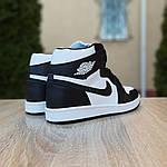 Мужские кроссовки Nike Air Jordan 1 Retro (бело-черные), фото 5