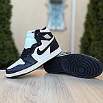 Мужские кроссовки Nike Air Jordan 1 Retro (бело-черные), фото 4