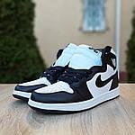Мужские кроссовки Nike Air Jordan 1 Retro (бело-черные), фото 7