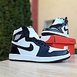 Мужские кроссовки Nike Air Jordan 1 Retro (бело-черные), фото 8