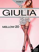 """Капроновые колготки """"Giulia""""Mellow"""" 20 DEN с имитацией чулков , фото 1"""