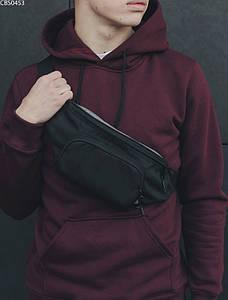 Поясная сумка темно-серая (бананка стафф) Staff gray CBS0453