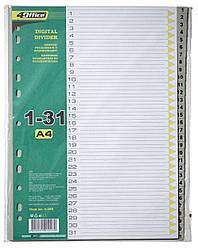 Разделитель пластиковый А4 4OFFICE 4-255 PP 130 мкм