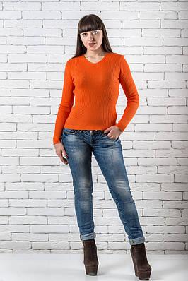 Женский свитер 42-50 оранжевый