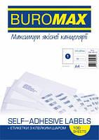 Етикетки з клейким шаром 1шт., 210х297мм (100 аркушів) 4821901000