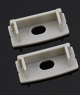 Торцева (бічна) заглушка для накладного алюмінієвого профілю шириною 23,5 мм ХН-617