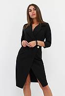 S (42-44) / Вечірнє жіноче плаття на запах Kristall, чорний