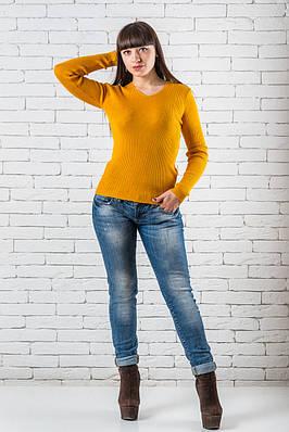 Женский свитер 42-50 желтый