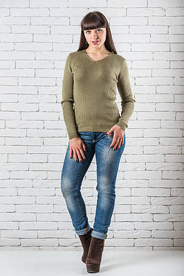 Женский свитер 42-50 хаки
