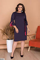 Женское платье до колен французкий трикотаж 48-62