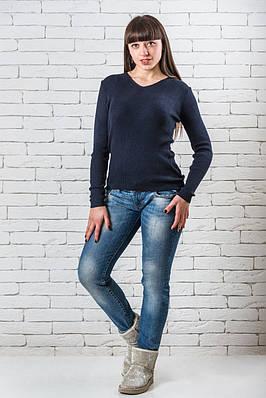 Женский свитер 42-50 темно-синий