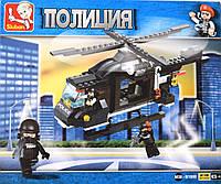 """Конструктор """"Полиция, вертолет"""" / 219 шт/ Товар с витрины"""