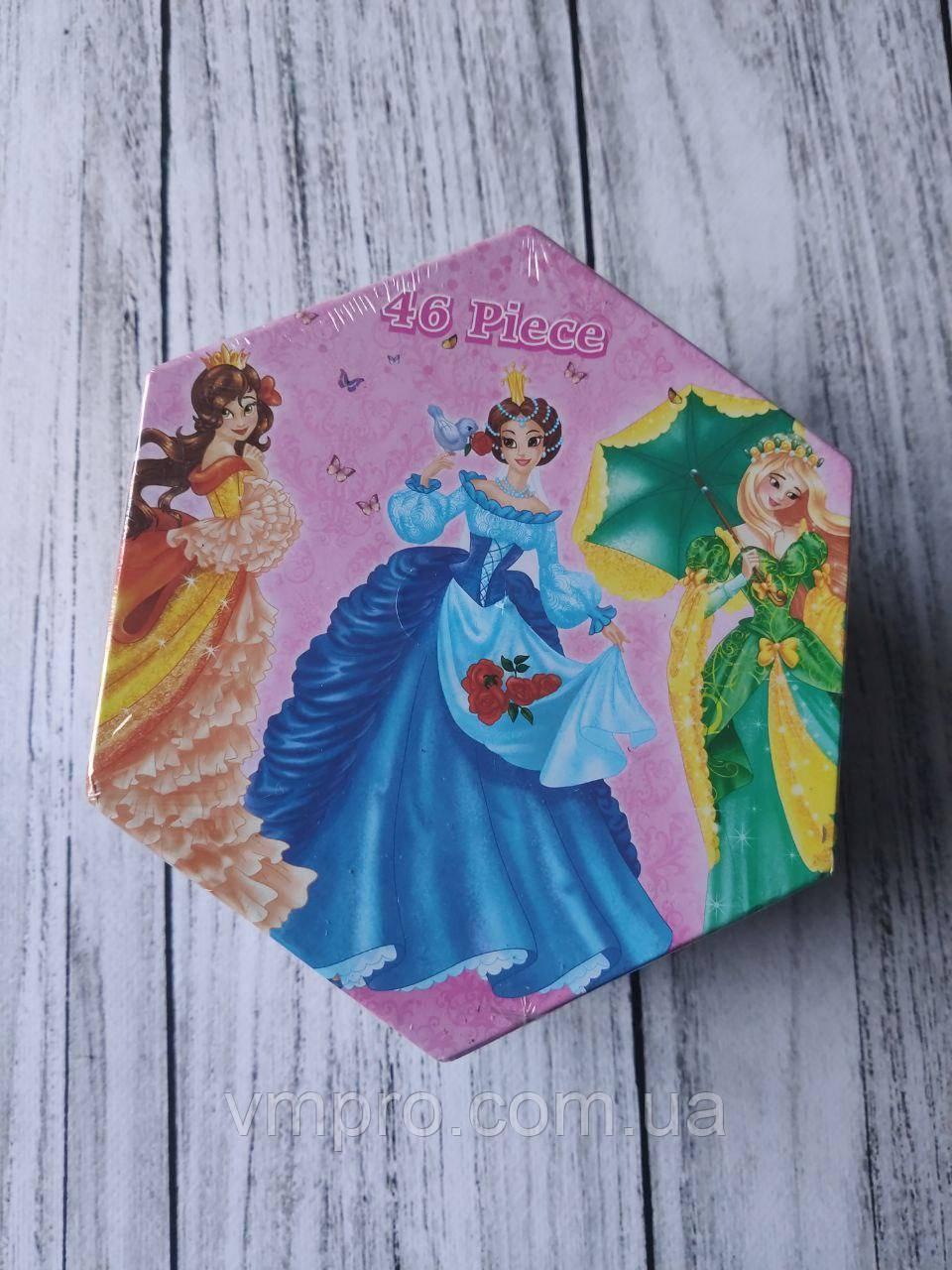 """Набір дитячої творчості в коробці """"Принцеса"""", 46 предметів, товари для творчості"""