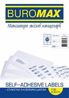 Етикетки з клейким шаром 12шт., 105х44мм (100 аркушів) 4821901000