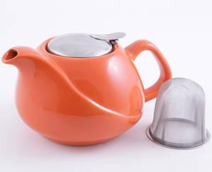 Чайник заварочный Fissman ProfiTea 750 мл оранжевый с ситечком (psg_FN-TP-9205)