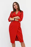 S, M, L / Вечірнє жіноче плаття на запах Kristall, червоний L (46-48)