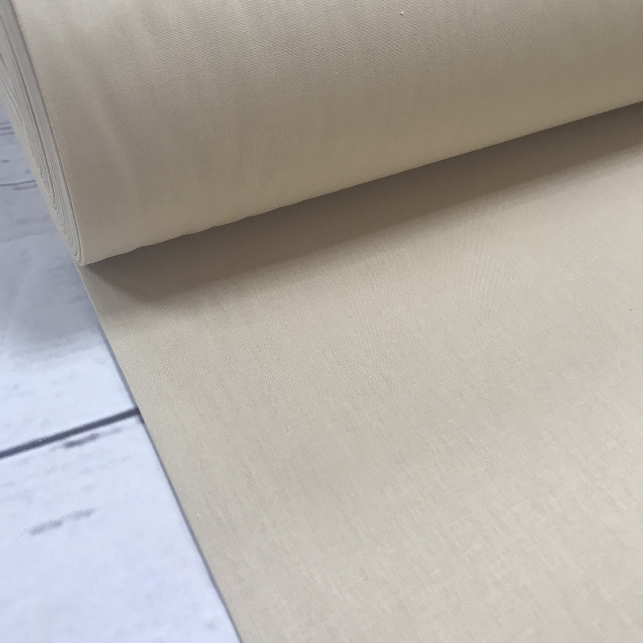 Ткань поплин De Luxe, однотонный песочно-бежевый (Турция шир. 2,4 м) №32-12b ОТРЕЗ( 0,9*2,4)