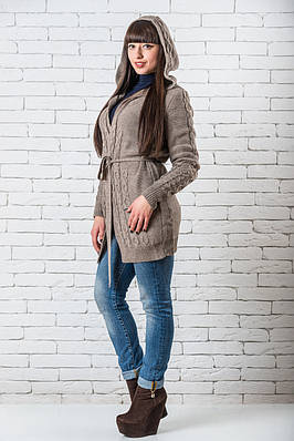 Женский кардиган модный  42-50 шоколад