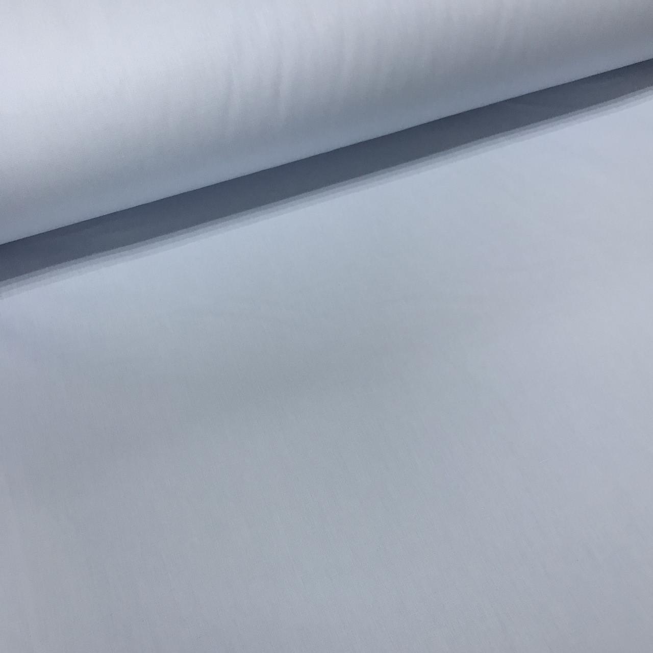 Ткань поплин De Luxe, однотонный светло-голубой (Турция шир. 2,4 м)  №32-58b ОТРЕЗ( 0,6*2,4)