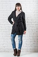 Модный женский кардиган 42-50 черный