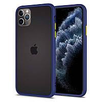 Чехол Spigen для iPhone 11 Pro Max Ciel Color Brick, Navy (ACS00423), фото 1