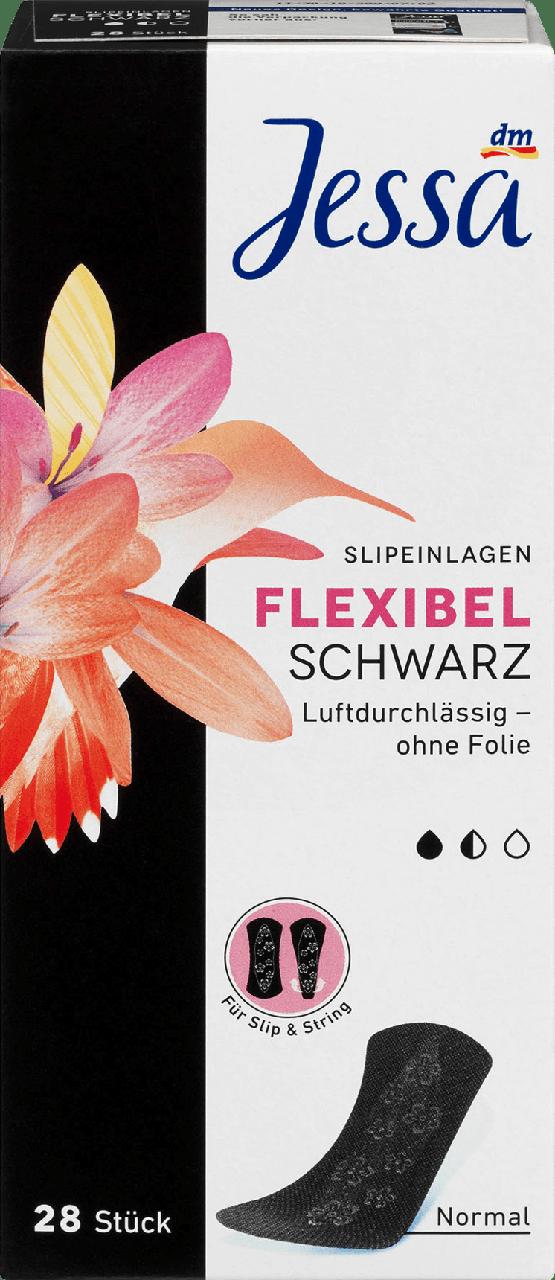 Ежедневные гигиенические прокладки Jessa Normal Schwarz + Flexibel, 28 шт.