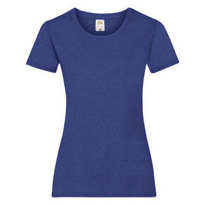 Футболка женская синяя меланж VALUEWEIGHT T