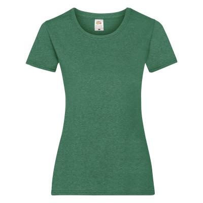 Футболка женская зелёная меланж VALUEWEIGHT T