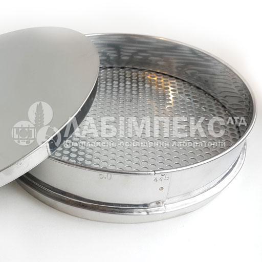 Сито лабораторное металлопробивное СЛ-120, обечайка 50 мм, круглая ячейка (Тип 1)