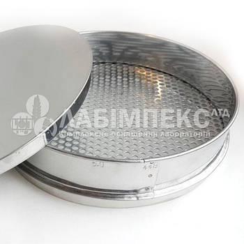 Сито лабораторное металлопробивное СЛ-200, обечайка 38 мм, круглая ячейка (Тип 1)