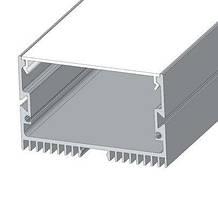 Комплект!!! Профиль алюминиевый LED ЛС70 анодированный+Рассеиватель матовый PC70 (палка 2м)