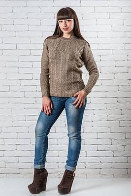 Женский свитер 42-50 шоколад