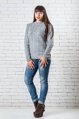 Женский свитер 42-50 светло-серый