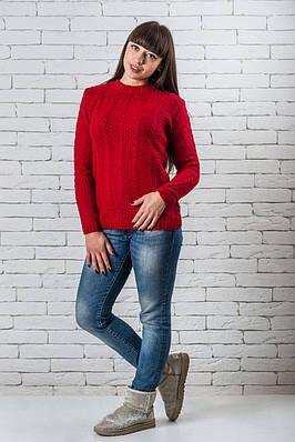 Женский свитер 42-50 красный