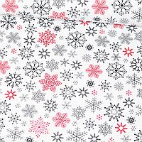 Отрез Бязи Снежинки красно-серые 95х160 см