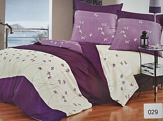 Сатиновое постельное белье семейное ELWAY 029 «Фиалки»