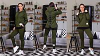 Теплый спортивный костюм женский Трехнитка на флисе Размер 48 50 52 54 56 58 В наличии 2 цвета, фото 1