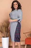 Повседневное платье из ангоры, размеры 48-50, 52-54, 56-58, 60-62