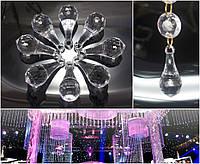(500грамм ≈ 130шт) Кристаллы для декора 37х16мм, с отверстием
