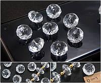 """(500грамм ≈ 510шт) Кристаллы 14х9мм, акриловые гранённые бусины """"Рондели"""" (пластик), фото 1"""