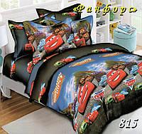 Комплект постельного белья полуторный Тачки Маквин Cars подростковый 150х210