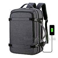 Сумка-рюкзак Meinaili трансформер серый 501907G, фото 1
