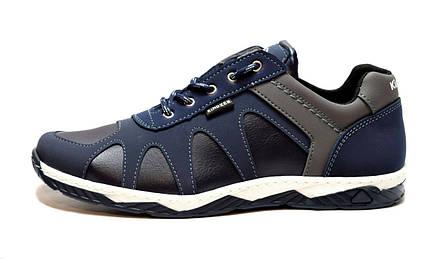 Кросівки чоловічі демісезонні стильні, сині 43 і 45 розмір, фото 2