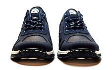 Кросівки чоловічі демісезонні стильні, сині 43 і 45 розмір, фото 3